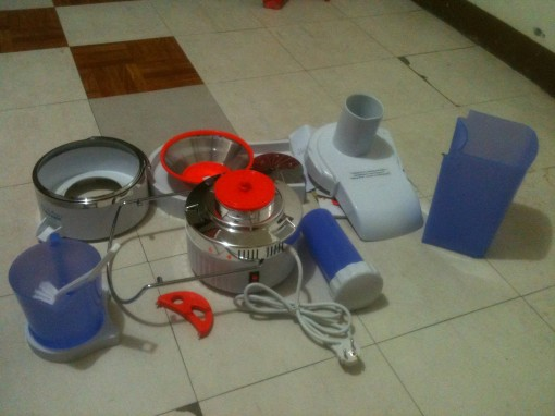 dismantled power juicer