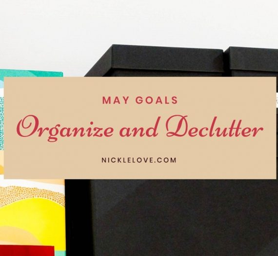May Goals: Organize and Declutter